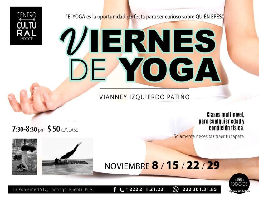 15doce viernes de yoga NOV-15-22-29